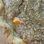Peach Crumble Pie ~ Pie of the Month