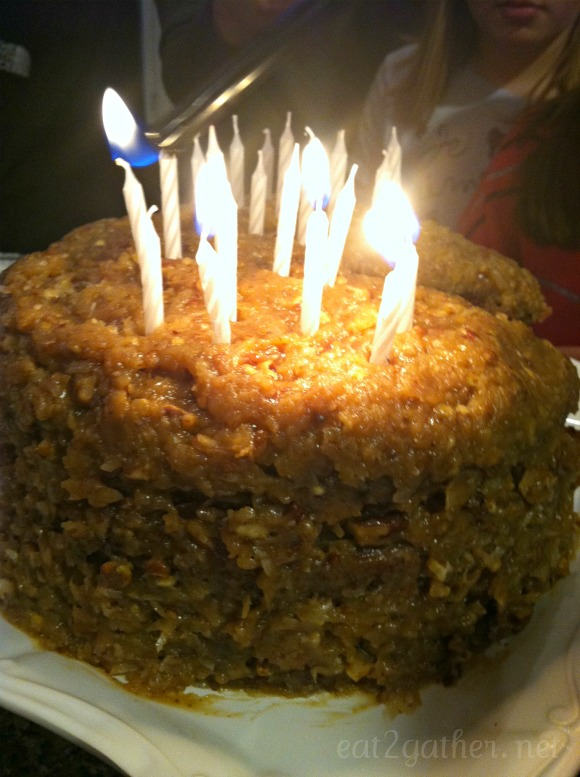 German Chocolate Cake And A Celebration