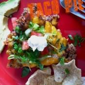 Taco Pie [#EggoWaffleOff]
