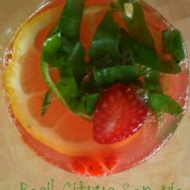 Basil Citrus Sangria & Book Club update!