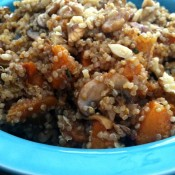 Walnut and Butternut Squash Quinoa Salad with Ginger & Tarragon Vinaigrette