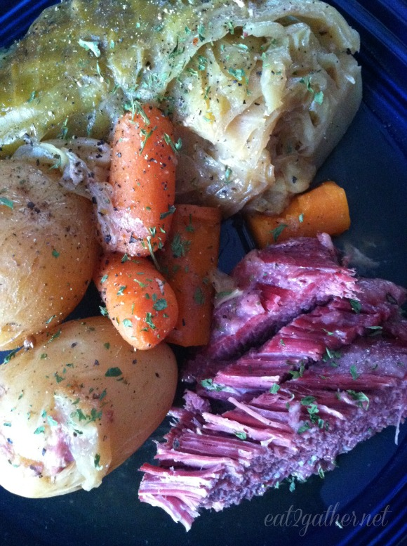 Boiled Dinner ~ a.k.a. Corned Beef and Cabbage