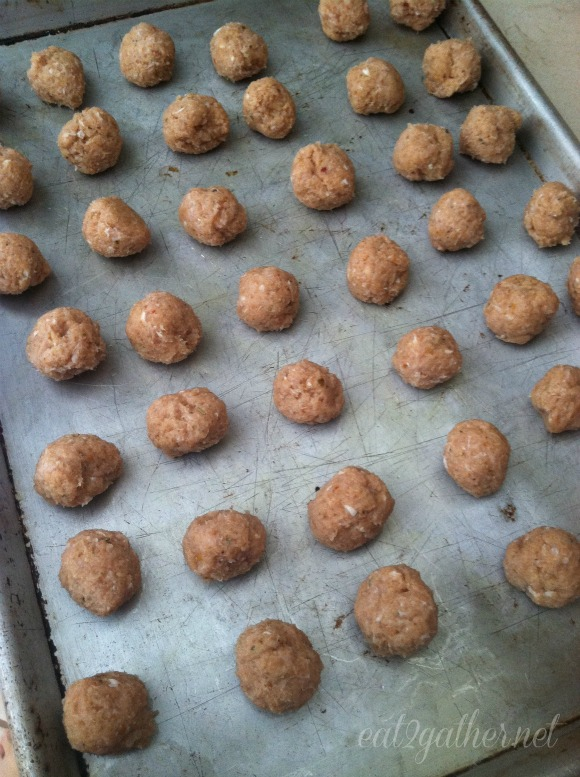 Turkey Meatballs ~ big batch for freezing