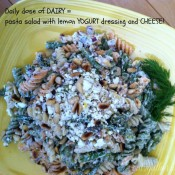Pasta Salad with Lemon Yogurt Dressing