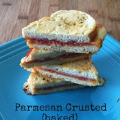 Parmesan Crusted (baked) PIzza Grilled Cheese