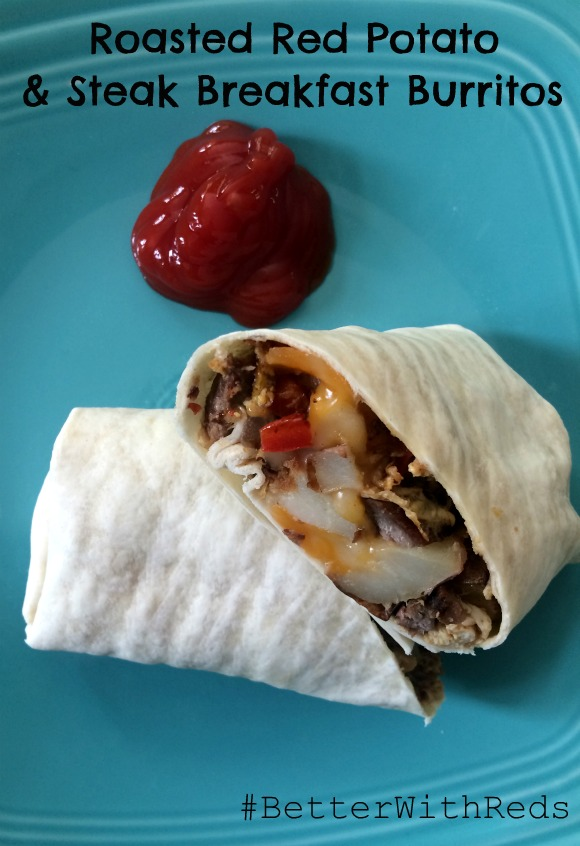 Roasted Red Potato & Steak Breakfast Burrito #BetterWithReds
