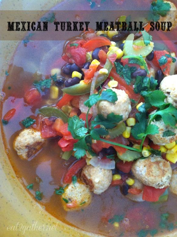 Mexican Turkey Meatball Soup