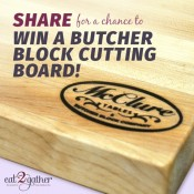 GIVEAWAY! McClure Tables Butcher Block