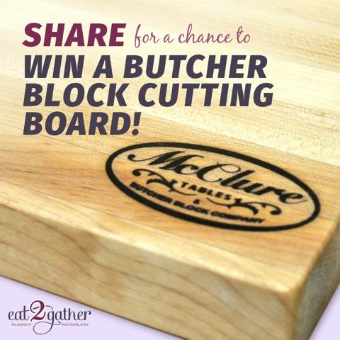 McClure Table ~ Butcher Block Giveaway