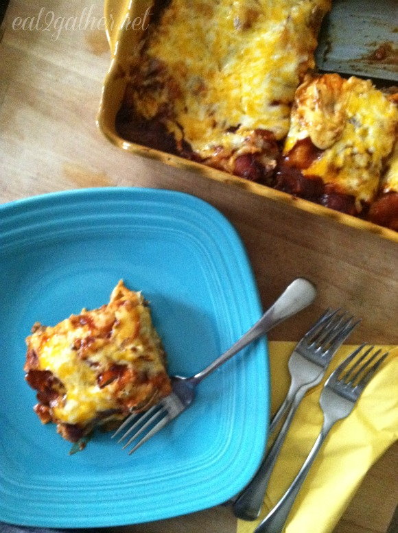 Easy Beef and Bean Enchiladas