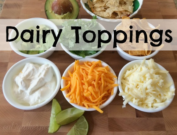 Spicy Chicken Tortilla Soup with Dairy Toppings