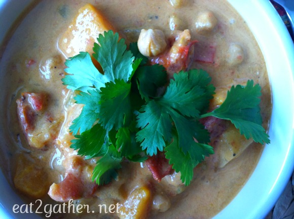 Moroccan Coconut Chickpea Soup