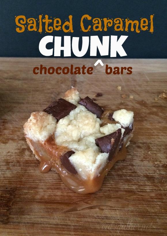 Salted Caramel Chocolate Chunk Bars