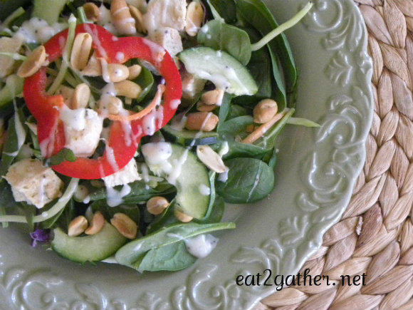 Thai Chicken Salad ~ easy salad buffet style meal
