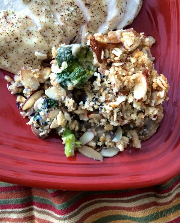 Cheesy Broccoli and Wild Rice Casserole