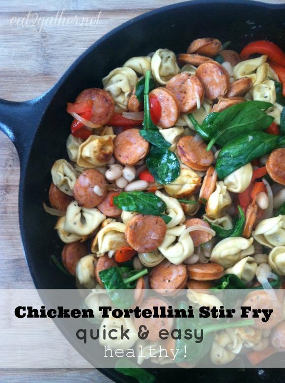 Chicken Tortellini Stir Fry - quick, easy, healthy!