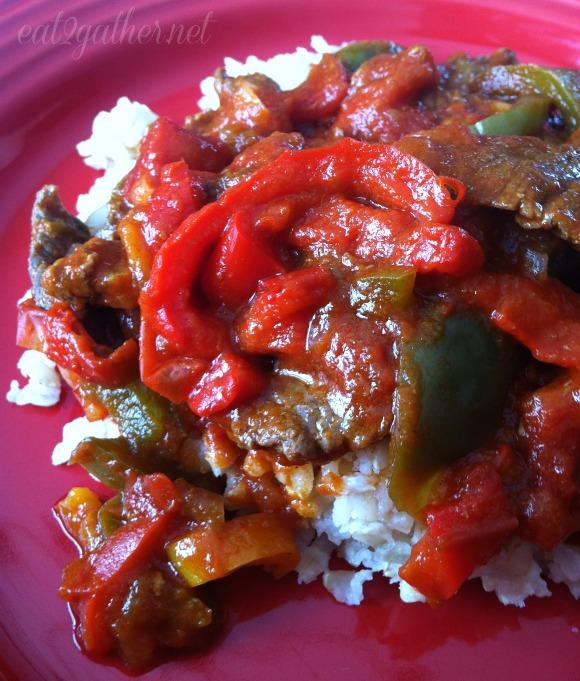 Pepper Steak - crock pot meal