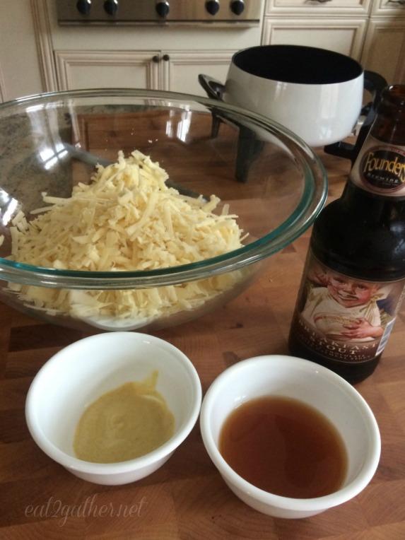 Cheddar Stout Fondue
