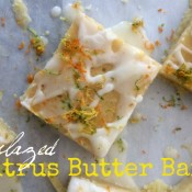 Glazed Citrus Butter Bars