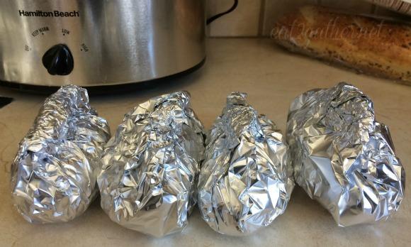 Herb Butter Baked Potatoes