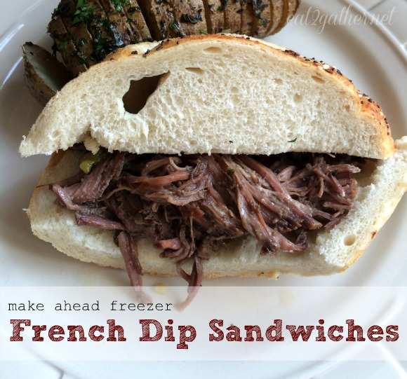 make ahead freezer French Dip Sandwiches