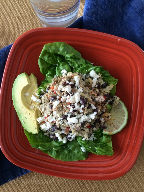 Protein Packed Tuna Salad with Cilantro Lime Dressing