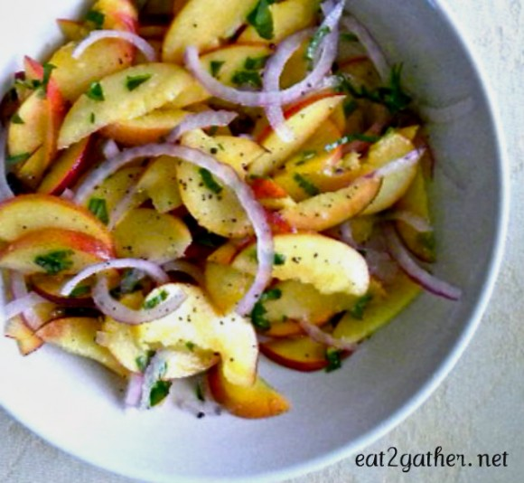 The Art of Making Salad - Peach Basil Salad