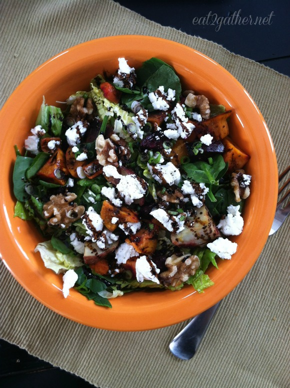 The Art of Making Salad - Roasted Veggie Chèvre Salad