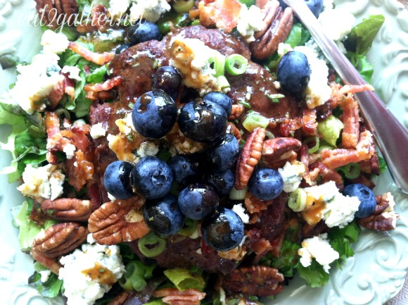 The Art of Making Salad - Blueberry Hamburg Salad