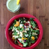 Crunchy Asian Salad with Yogurt Lime Dressing