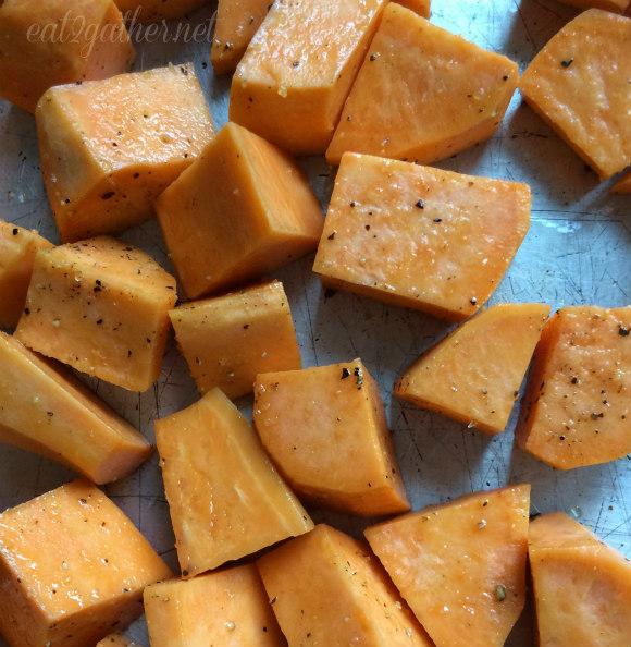 Cheese Sweet Potato and Kale Strata
