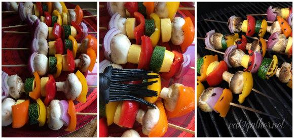 Grilled Vegetables with Green Goddess Dressing