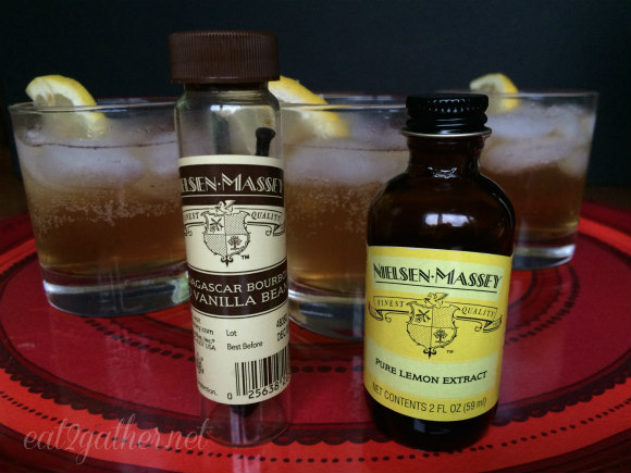 Partly Cloudy Cocktail recipe Vanilla Bean infused Rum with pure lemon extract and ginger ale