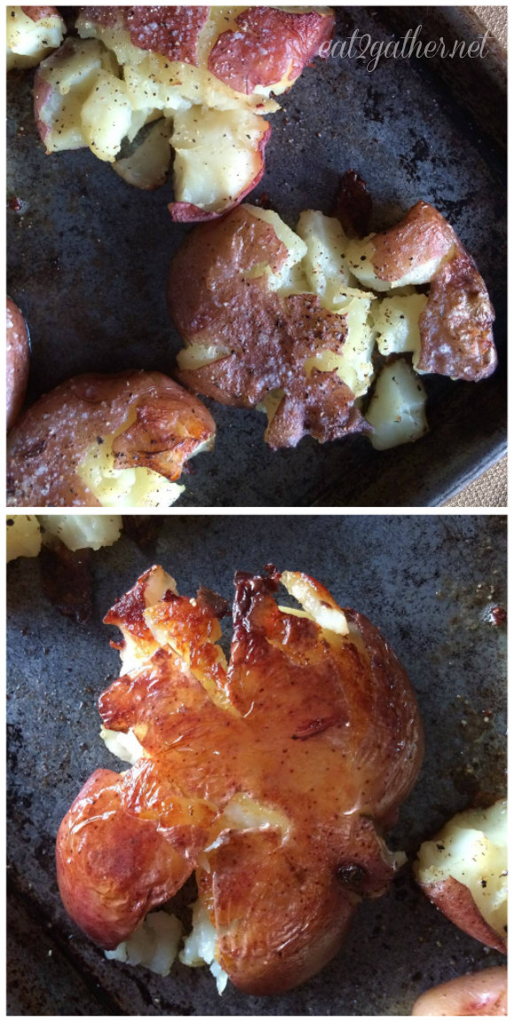 Crunchy Smashed Potatoes ~ easy side for any meal!