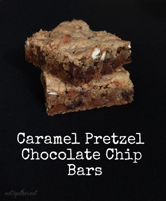 Caramel Pretzel Chocolate Chip Bars