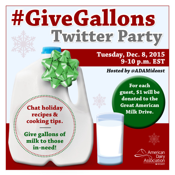 American Dairy Mideast Twitter Party #GiveGallons