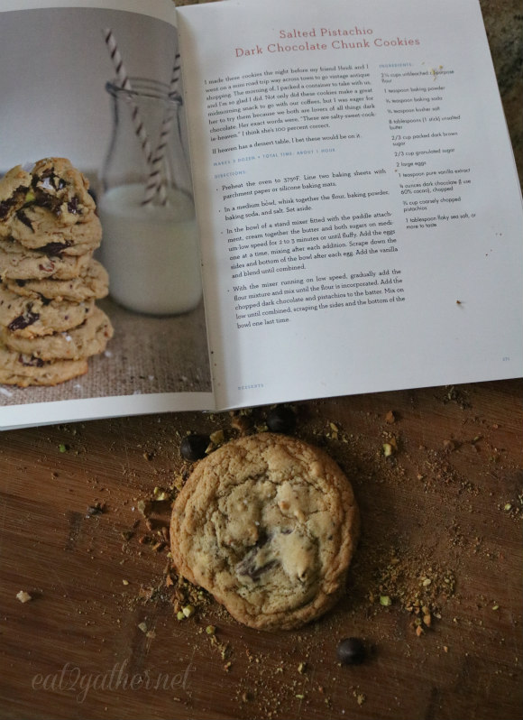 Simply Scratch - Salted Pistachio Dark Chocolate Chunk Cookies