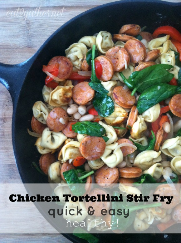 Chicken Tortellini Stir Fry