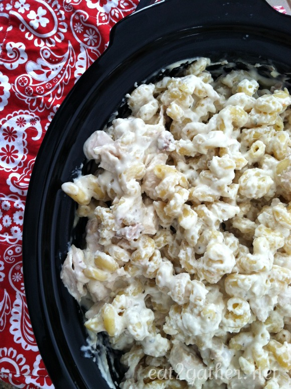 Crockpot Chicken Alfredo for a crowd