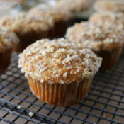 Orange Sweet Potato Muffins with Pecan Crumble Topping