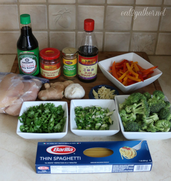 Szechuan Chicken and Noodles