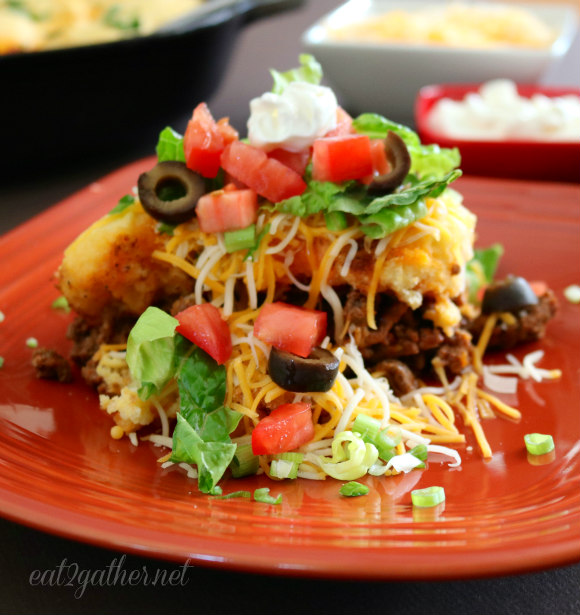 One Pan Taco Pie #MeetFarmFamilies